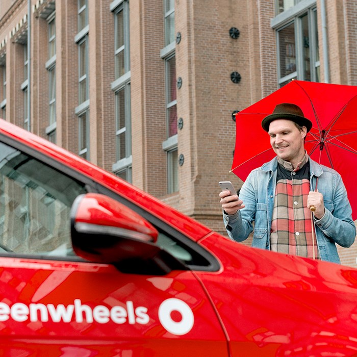 Greenwheels deelauto app